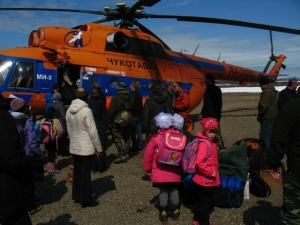 The Anadyr to Meinopilgyino helicopter